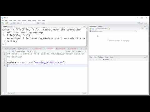 Read a CSV file in R