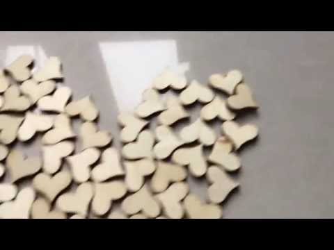 100pcs Wooden Love Heart Wedding Table Scatter DIY Decoration