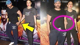 Kareena Kapoor Khan looks so weak cant even walk or stand without hubby Saif Ali Khan |