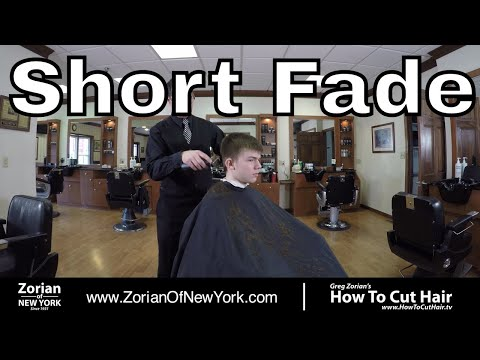 Short Fade with Flip Up Front Haircut - Men's Fade with Longer Top - Greg Zorian Haircut Tutorial