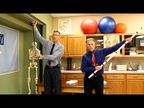 Wand Exercises for Frozen Shoulder or Tight Shoulder. Easy Stretches