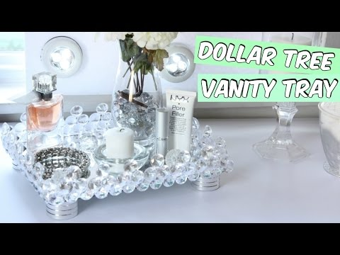 DOLLAR TREE VANITY TRAY D.I.Y