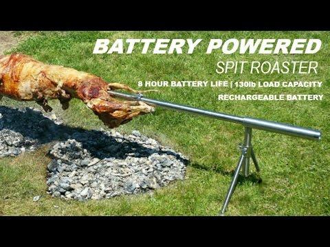 Pig, Hog, Lamb or Goat, Spit Roaster Rotisserie | Battery Powered