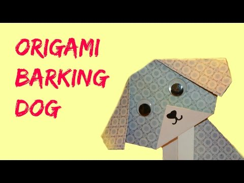 Easy Origami Tutorial: How to Make an Origami Barking Dog