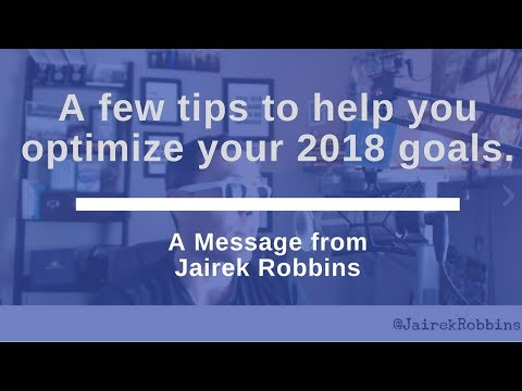 FB Live Repost: A few tips to help you optimize your 2018 goals.