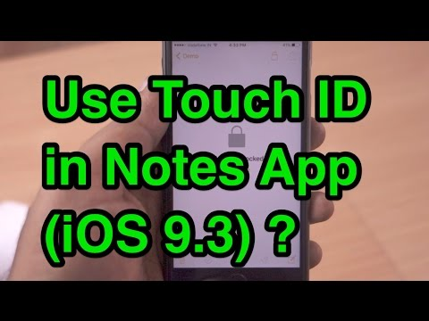 How to use Touch ID in Notes App (iOS 9.3)?