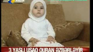 Bakıda yaşayan bu 3 yaşlı uşaq Qurani-Kərimin 37 surəsini təcvidlə tərzdə əzbər bilir...