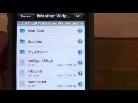How to install weather widget on iPhone 4!!! NEW!!!