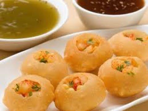 How to make Pani Poori / Gol Gappa / Gup Chup in Telugu