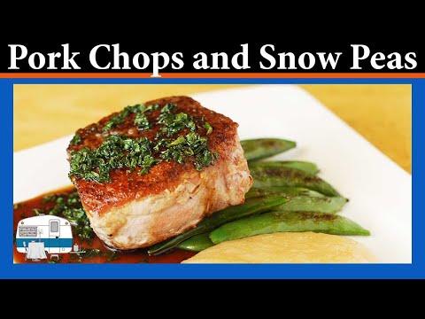 How to make Pork Chops with Sugar Snap Peas