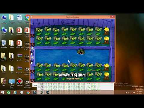 How to hack PLANTS vs ZOMBIES in PC--[unlimited sun, no reload]