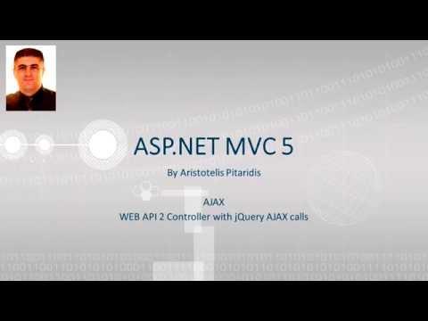 ASP.NET MVC 5 : 5.2 AJAX - Web API 2 Controller with jQuery AJAX calls