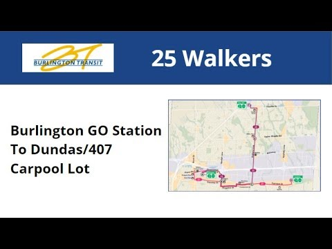 Burlington Transit 2010 NFI D40LF #7052-10 On 25 Walkers (Burlington GO To Dundas/407 Carpool)
