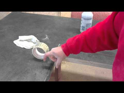 HOW TO INSTALL BEVEL EDGE ON A LAMINATE COUNTERTOP