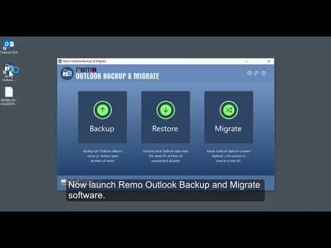How to migrate Outlook from one computer to the other?