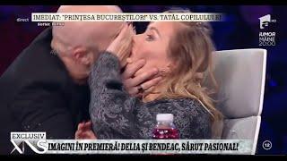 Imagini în premieră de la iUmor! Delia şi Bendeac, sărut pasional!