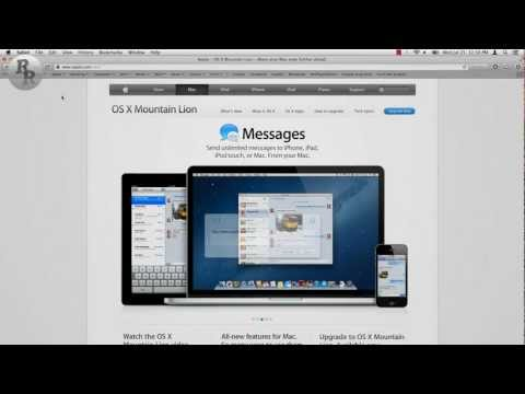 Mountain Lion Features Overview (Apple Mac OS X Version 10.8)