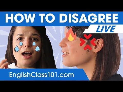 How to Disagree in English  - Basic English Phrases