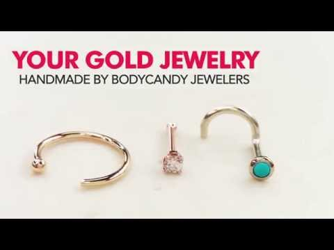 Handcrafted 14k Gold Nose Rings