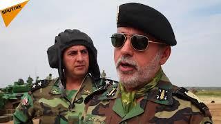 ویدئو ویژه اسپوتنیک از تمرینات تیم زرهی ایران در پایگاه نظامی روسیه