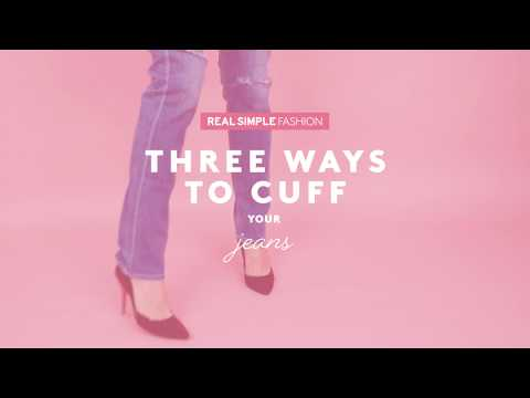 How to Cuff Jeans | Style Tips | Real Simple