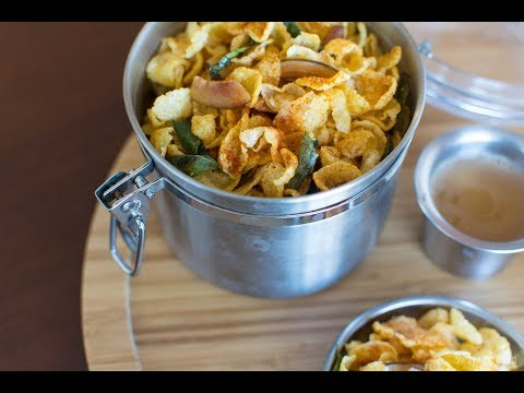 Corn flakes mixture | yellow dried corn Chivda in Kannada