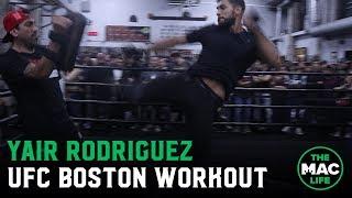 Yair Rodriguez throws flashy kicks for UFC Boston Open Workouts