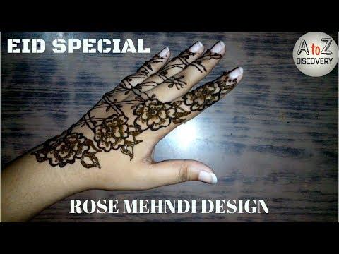 Rose Mehndi or Henna Design | Eid Special Mehndi Design | Beautiful Henna Design For Back Hand