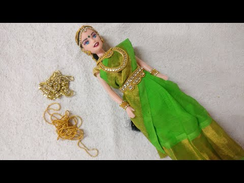 DIY traditional Barbie with saree draping#kalpana saranam