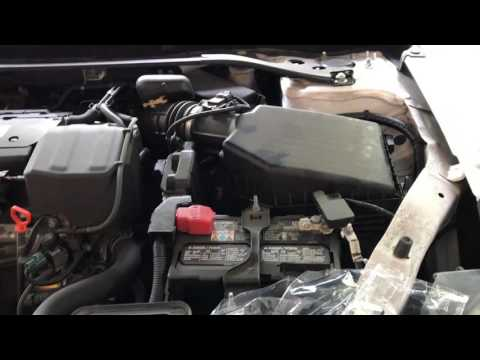 Change/ Replace Honda Accord Engine & Cabin Air Filters 2013- 2016 (Filmed on iPhone 7 Plus)