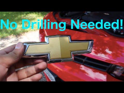 Remove Front Bowtie 2014-2015 Camaro  (No Drilling Needed!)