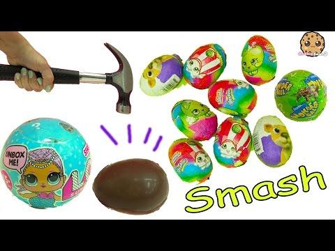 Shopkins Surprise Chocolate Eggs + LOL Surprise Baby Blind Bag