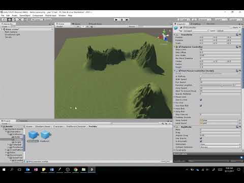 Adding a character controller to a Unity scene