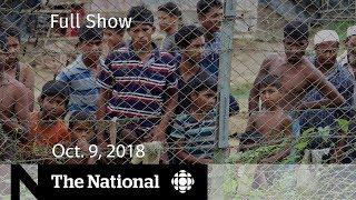 The National for Tuesday, October 9, 2018 — Saudi Arabia, Police Pot, Inside Myanmar