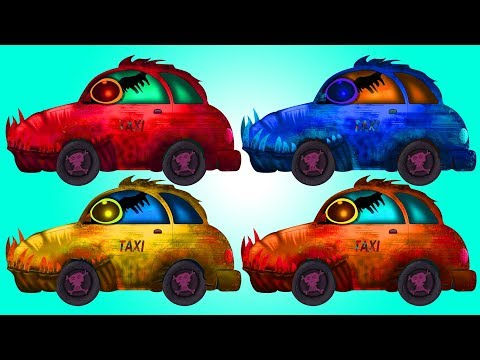 Scary Taxi | Learn Colors | Educational Video | Street Vehicle