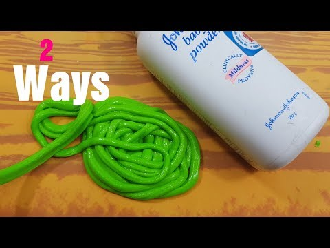 3 Ways Baby Powder Slime Recipes! How to make Slime with Baby Powder! No Glue! MUST WATCH!