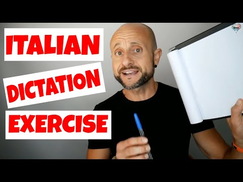 Practice and Improve Italian Pronunciation, Dictation and Comprehension EXERCISE [IT]