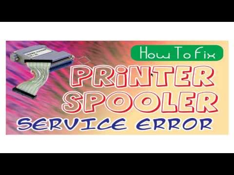 How to Fix print spooler services not running error from windows 7