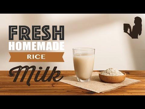 Fresh Homemade Rice Milk recipe made using a Vitamix or Blendtec blender