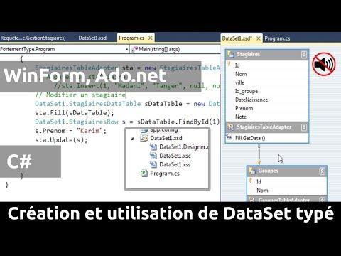 CS-TP-23 : Création et utilisation d'un « DataSet » fortement typé