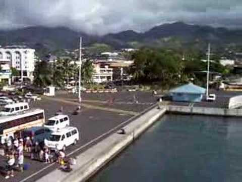 Getting on the Ferry in Papeete!