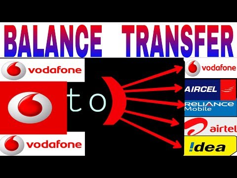 Vodafone balance transfer in any SIM. VODAFONE to idea,Airtel, Vodafone, Reliance, Aircel.