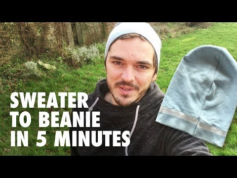 Beanie from old Sweater - Easy DIY project