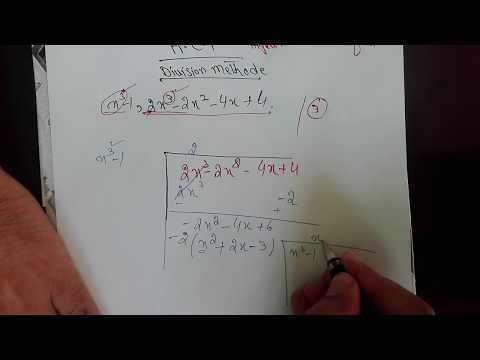 How to find H.C.F of algebraic expressions bye division method, part 1/2