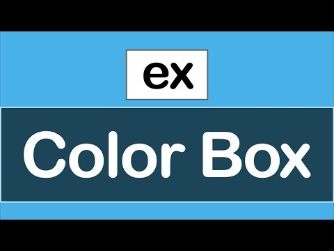 ( JavaScript Examples ) Change Color Box Using JavaScript
