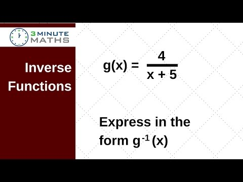 New topic for GCSE maths - Inverse Function g(x) = 4 / x + 5 question