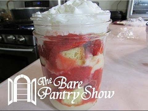 Strawberry Short Cake in a Mason Jar