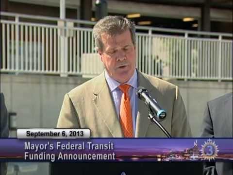 09/06/13 Mayor Dean Announces Federal Transit Funding Plan