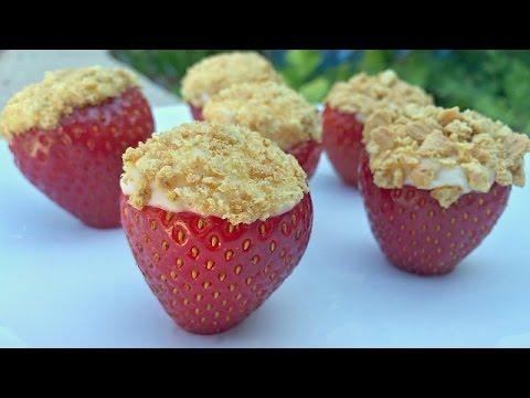 STRAWBERRY CHEESECAKE BITES - Super Easy NO BAKE Dessert Recipe