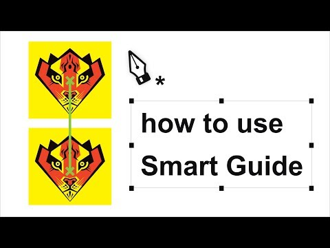 Adobe Illustrator cc for Beginners - Tutorials #1 Smart Guides | How to use Smart Guide